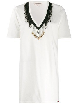 Giacobino bead embellished T-shirt - White