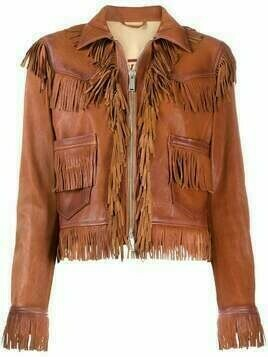 Dsquared2 fringed leather jacket - Brown