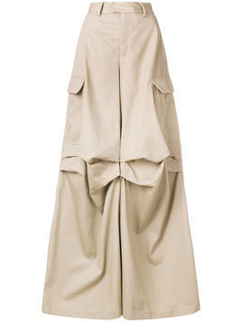 Matthew Adams Dolan pleated crago trousers - Neutrals