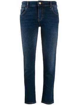 Emporio Armani slim-fit cropped jeans - Blue