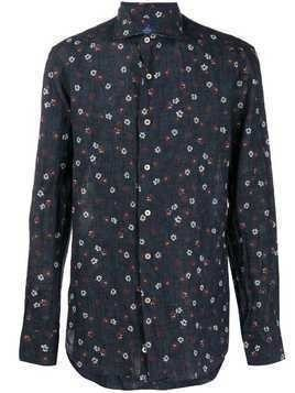 Alessandro Gherardi floral print shirt - Blue