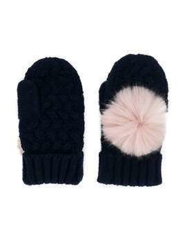 Hucklebones London pom-pom mittens - Blue