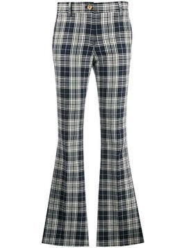 Hilfiger Collection plaid kick flare trousers - Blue