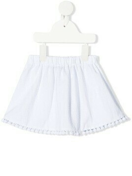 La Stupenderia appliqué-detailed miniskirt - White