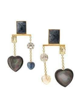 Lizzie Fortunato Jewels hanging heart earring - GOLD
