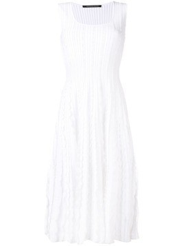 Antonino Valenti ruffled midi dress - White
