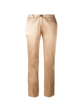Romeo Gigli Pre-Owned turn up hem trousers - PINK