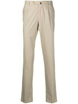 Incotex slim-fit poplin trousers - Neutrals