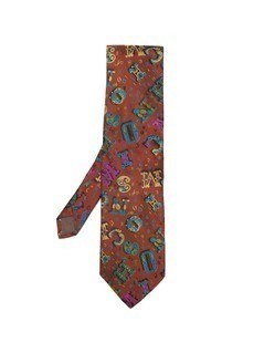 Moschino Vintage letter print tie - Red