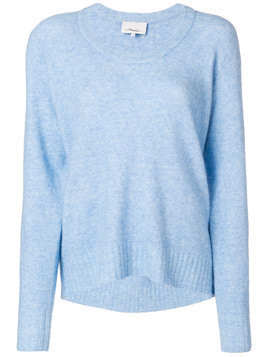 3.1 Phillip Lim scoop neck knitted sweater - Blue
