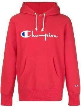 Champion logo hoodie - Red