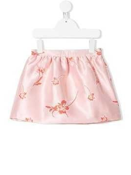 Hucklebones London floral embroidered mini skirt - Pink