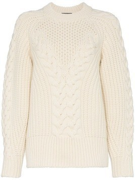Alexander McQueen Chunky Knit Sweater - Nude & Neutrals