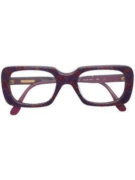 Missoni Pre-Owned zig-zag patterned frame glasses - PINK