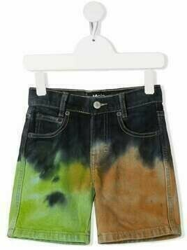 Molo tie-dye denim shorts - Blue
