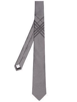 Burberry check silk jacquard tie - Grey