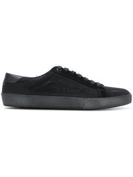 Saint Laurent - distressed sneakers - Damen - Cotton/Leather/Suede/rubber - 37.5 - Black