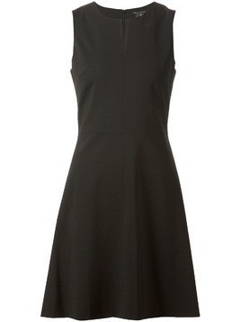 Theory split neck A-line dress - Black