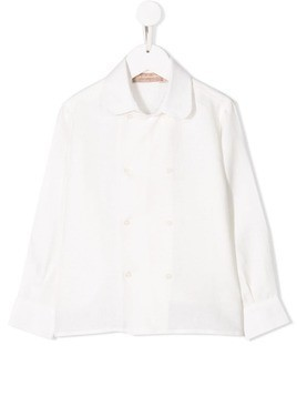 La Stupenderia double-breasted shirt - White