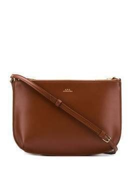 A.P.C. Sarah crossbody bag - Brown
