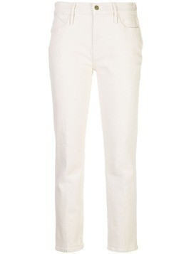 Frame mid rise slim-fit jeans - NEUTRALS