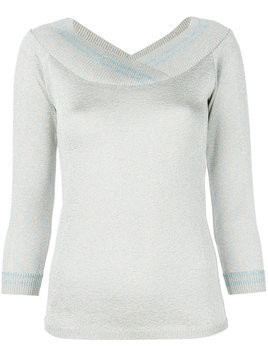 Charlott metallic v-neck pullover - Grey