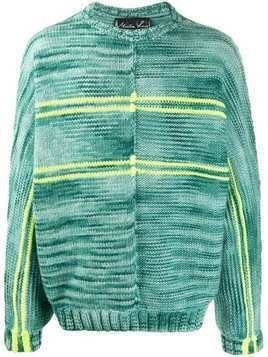 Martine Rose striped crew neck jumper - Green