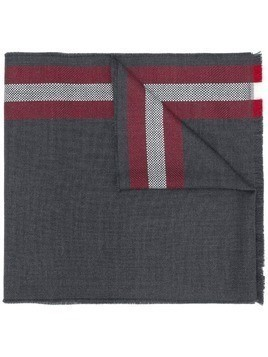 Bally striped border scarf - Grey