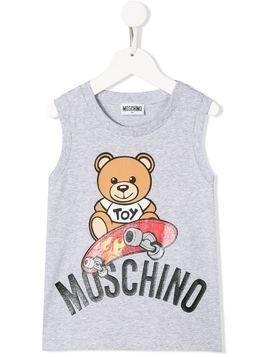Moschino Kids teddy bear vest - Grey
