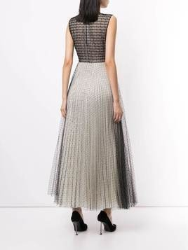 Giambattista Valli mesh-layer A-line dress - Black