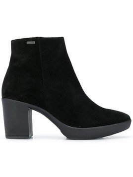 Hogl rubber sole 75mm booties - Black