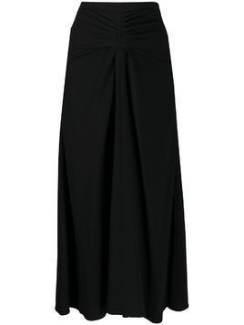 Rochas high rise midi skirt - Black