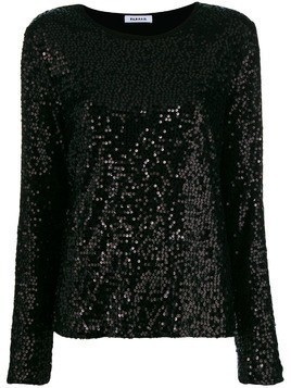 P.A.R.O.S.H. sequinned blouse - Black