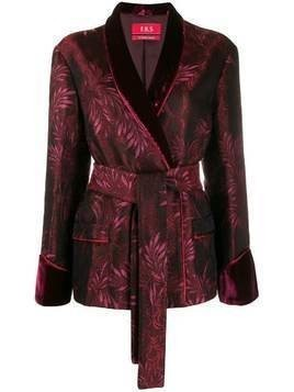 F.R.S For Restless Sleepers jacquard pattern blazer - Red
