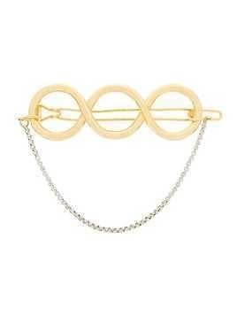 JW Anderson gold twisted hair barrette with silver chain