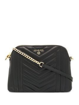 Michael Michael Kors quilted logo cross body bag - Black