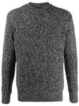 Lamberto Losani Mouline plain jumper - Grey