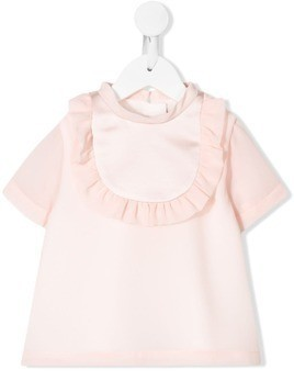 Hucklebones London Ruffle Bib Blouse - Pink