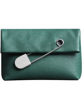 Burberry The Medium Pin Clutch in Leather - Green