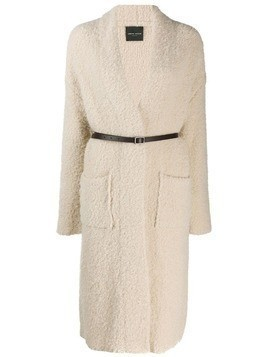 Roberto Collina shearling cardigan - Neutrals