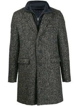 Herno single breasted check coat - Blue