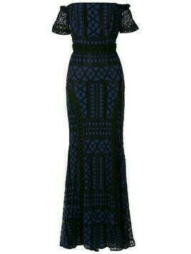 Martha Medeiros Ramona Poá evening dress - Black