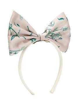 Hucklebones London Giant Bow floral-print hairband - PINK