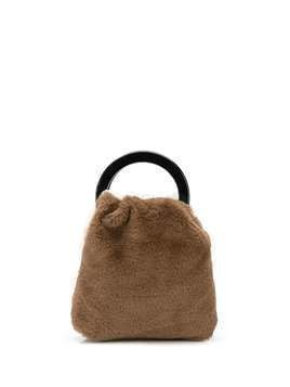 Lizzie Fortunato Jewels faux fur tote bag - Brown