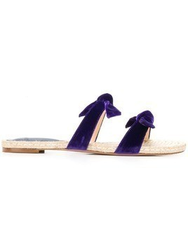 Alexandre Birman bow detail espadrilles - Purple