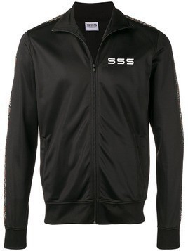 Sss World Corp embroidered logo tracksuit jacket - Black