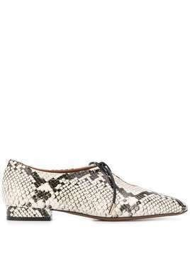 L'Autre Chose snakeskin-effect lace-up shoes - White