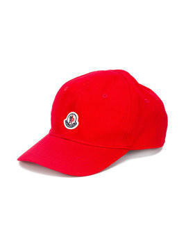 Moncler Kids logo cap - Red