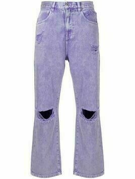 Ground Zero ripped-detail jeans - Purple