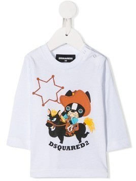 Dsquared2 Kids cowboy motif sweatshirt - White